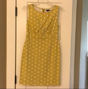 GAP mustard/yellow knee length dress